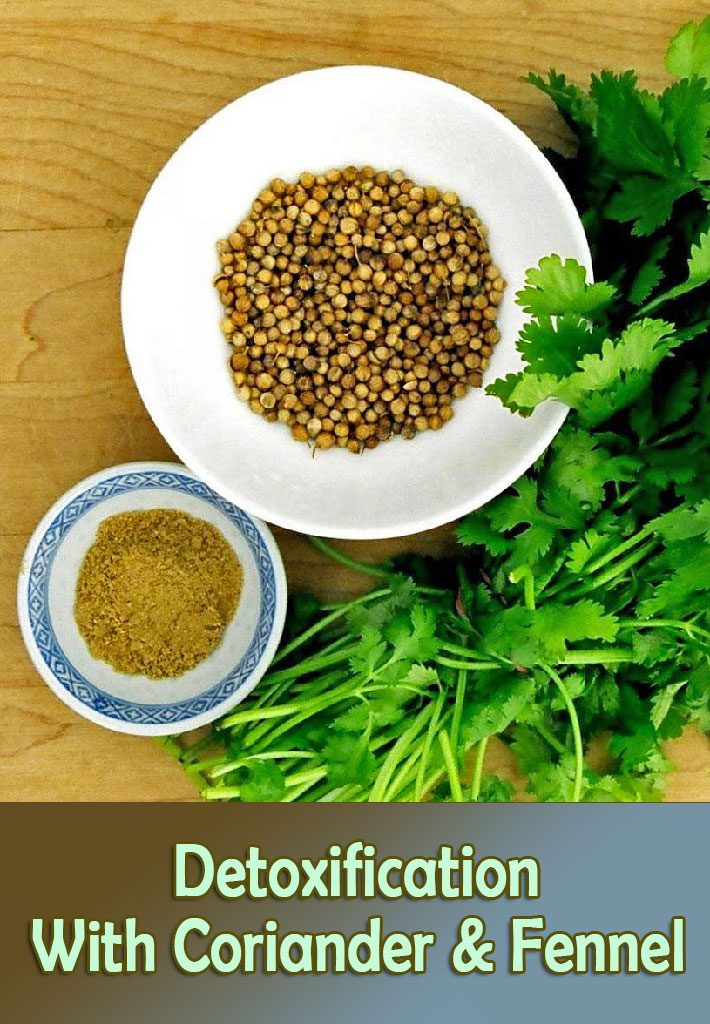 Detoxification With Coriander & Fennel Water