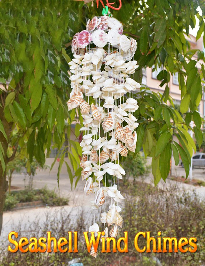 Great DIY Seashell Wind Chimes Ideas