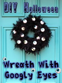 DIY Halloween Wreath With Scary Googly Eyes