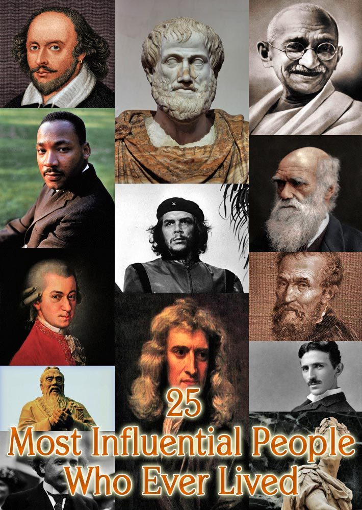 25 Most Influential People Who Ever Lived
