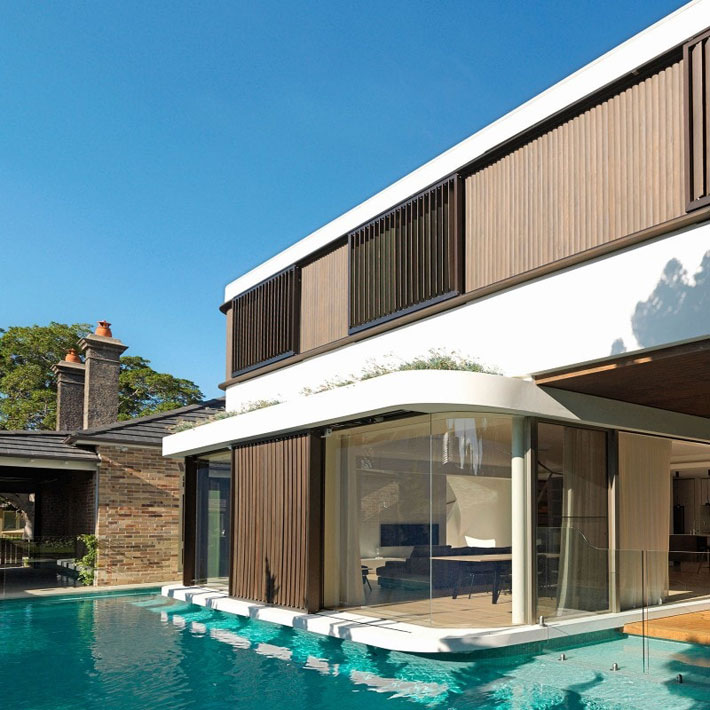 The Pool House by Luigi Rosselli Architects