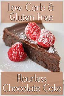 Flourless Chocolate Cake - Low Carb & Gluten Free