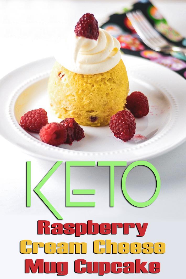Keto Raspberry Cream Cheese Mug Cupcake - Quiet Corner