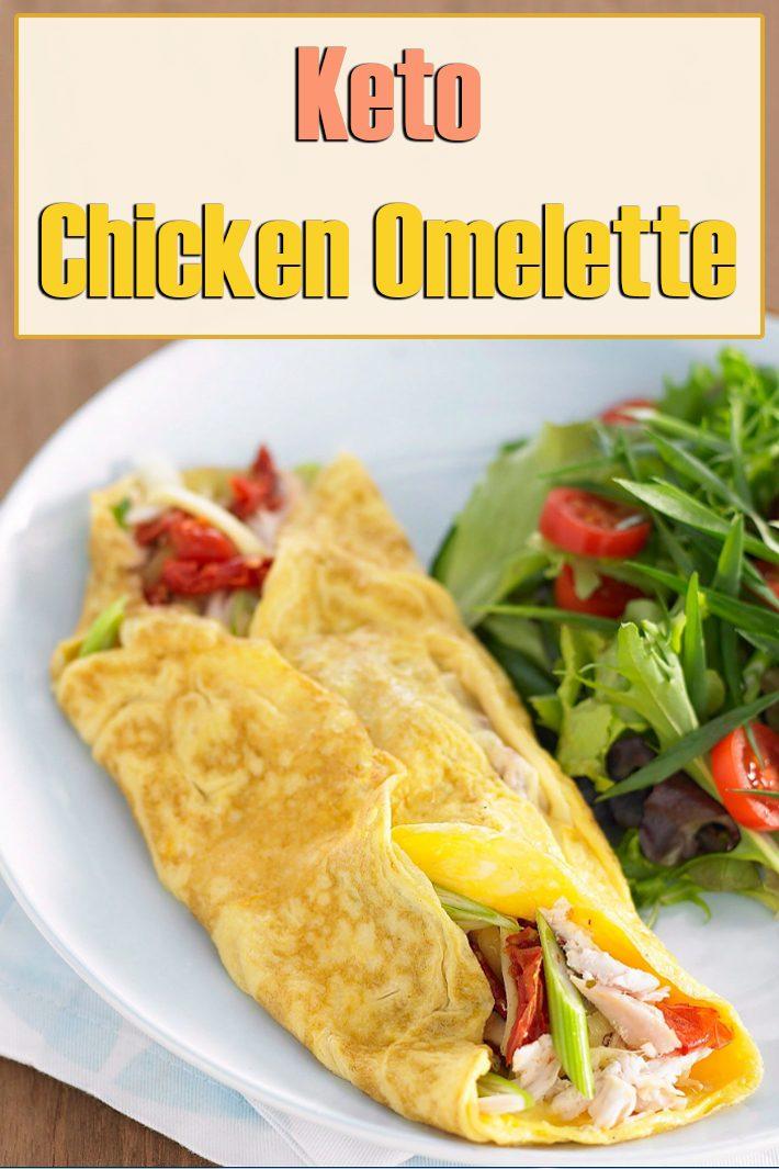Keto Chicken Omelette