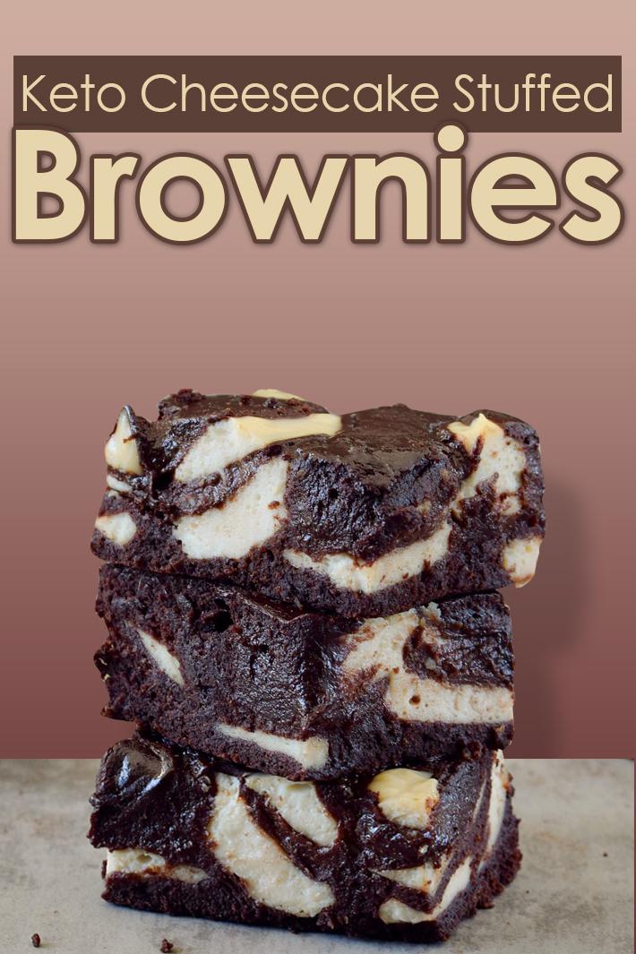 Keto Cheesecake Stuffed Brownies - Quiet Corner