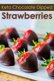 Keto Chocolate Dipped Strawberries
