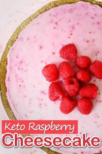 Keto Raspberry Cheesecake