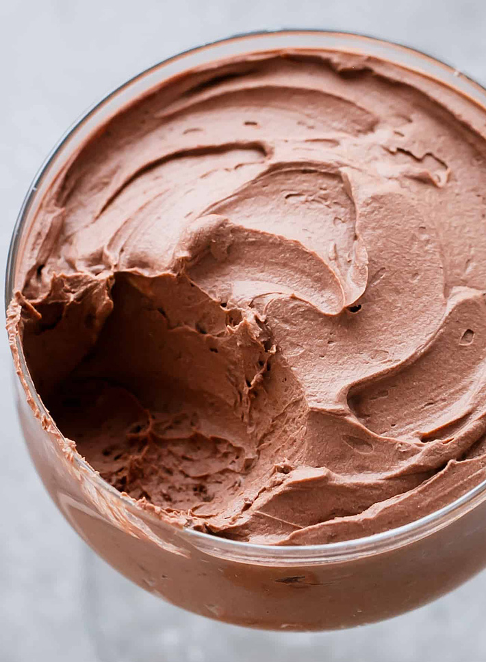Low Carb and Gluten-Free Chocolate Mousse