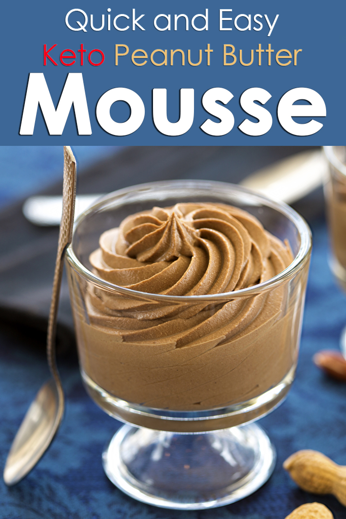 Quick and Easy Keto Peanut Butter Mousse - Quiet Corner