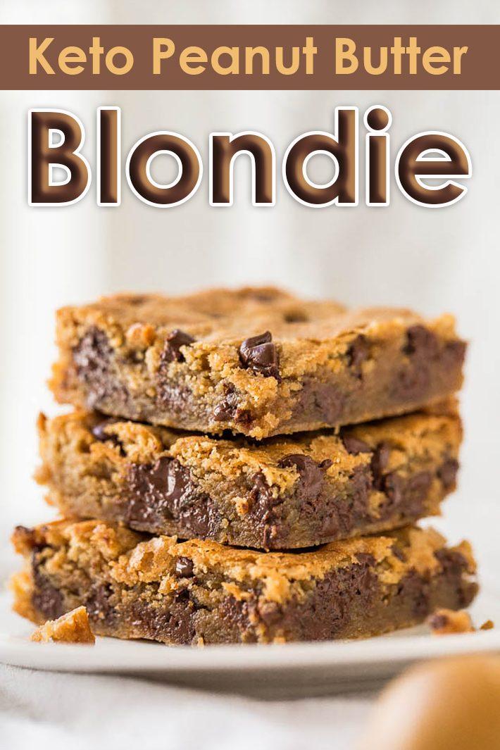 Keto Peanut Butter Blondie