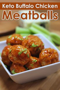 Keto Buffalo Chicken Meatballs