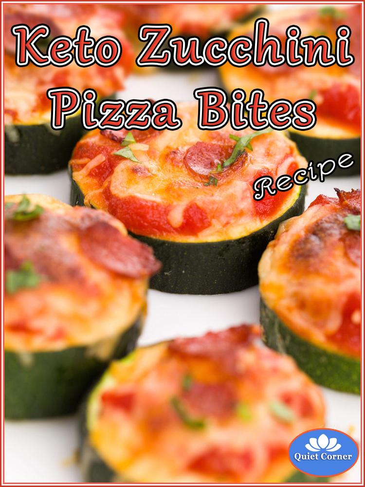 Keto Zucchini Pizza Bites Recipe - Quiet Corner
